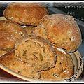 Petits pain de campagne aux olives