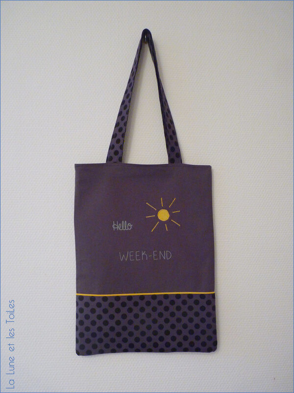 Tote bag week-end 2