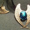 Ailes d'ange avec une abalone et un coeur