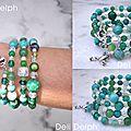 bracelet mémoire vert
