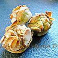Mini muffins au saumon fumé et à l'oseille