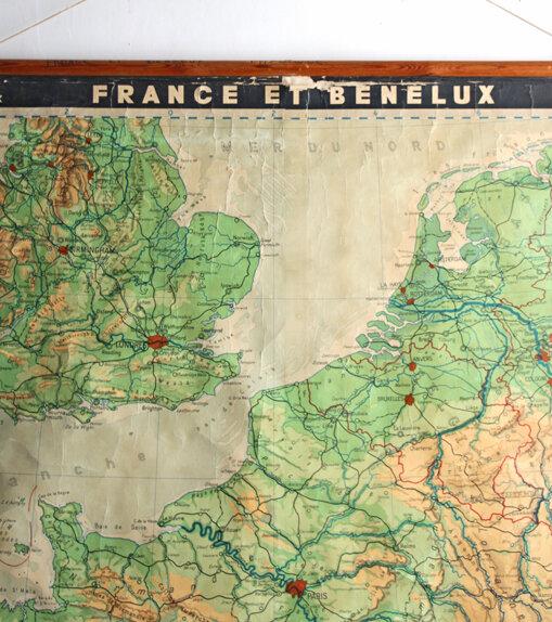 ancienne-carte-de-geographie-entoilee-france-et-benelux-detail-bis