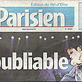 Inoubliable - le parisien, 8 juillet 2009