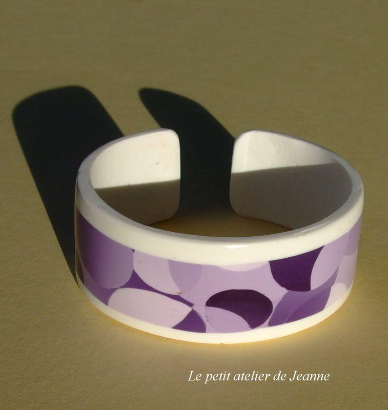 Bracelet mauve plat
