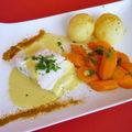 Filet d'empereur aux carottes et creme au curry