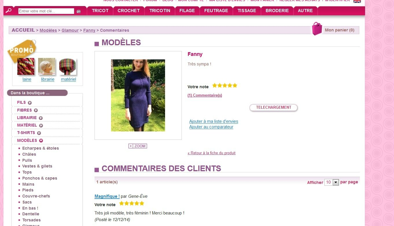 Tricotin robe Fanny