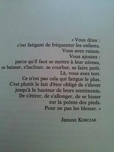Citation de Janusz Korczak (enfants)