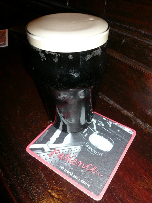 Guiness in the Temple Bar