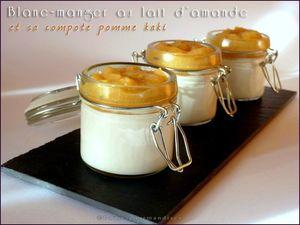 blanc-manger au lait d'amande et sa compote pomme kaki (26)