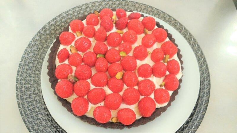 tarte sablée au chocolat et aux fraises ( du chef Custos)