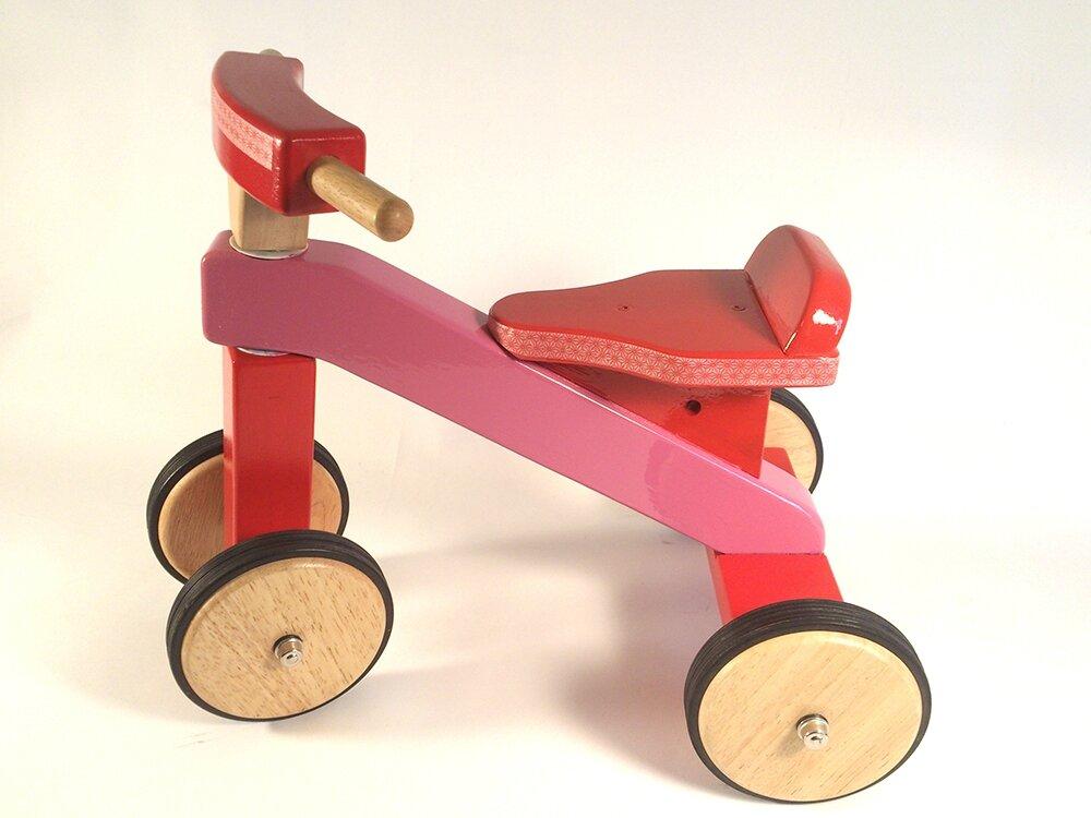 jeu en bois : quadricycle en bois - 1er âge