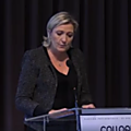 Marine le pen au salon international du transport et de la logistique le 22/03/2018