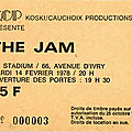 The jam - mardi 14 février 1978 - le stadium (paris)
