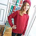 Un pull classique à bordures de côtes torsadées (10 ans)
