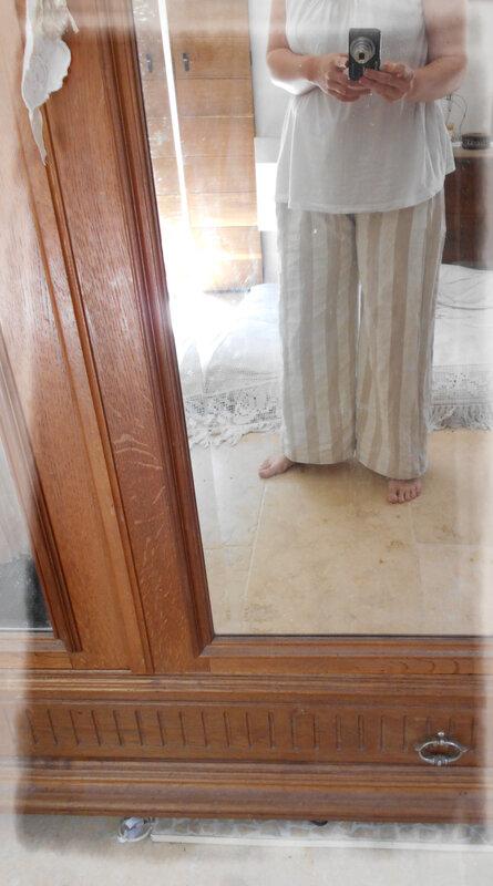 Pantalon en rideau