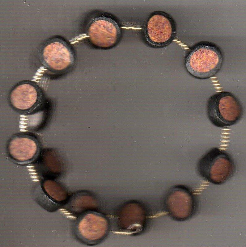 bracelet noir or