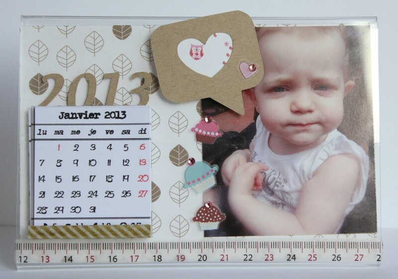 calendrier photo sur support plexi