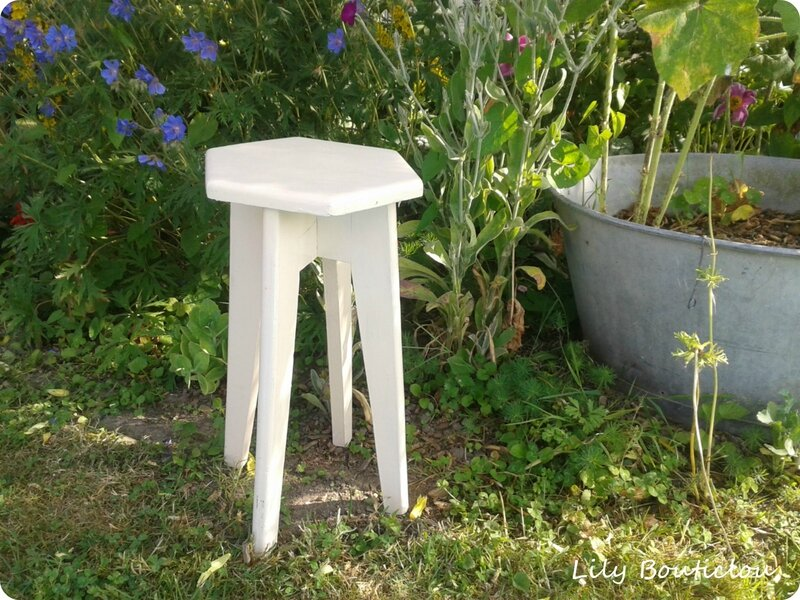 brocante tabouret hexagone lilybouticlou