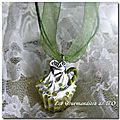 Collier cupcake chantilly pomme verte