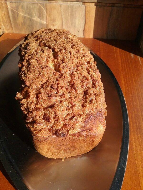 Cake croustillant aux poires râpées et aux spéculoos 111