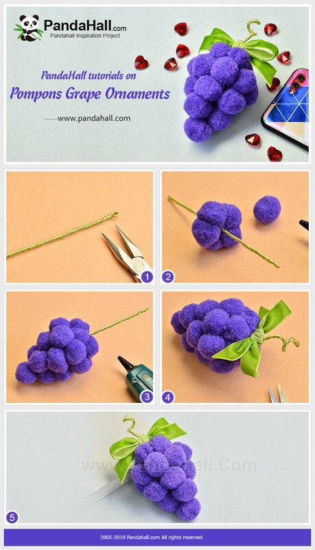 Pompons Grape Ornaments