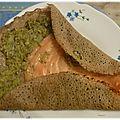 Galette courgette saumon