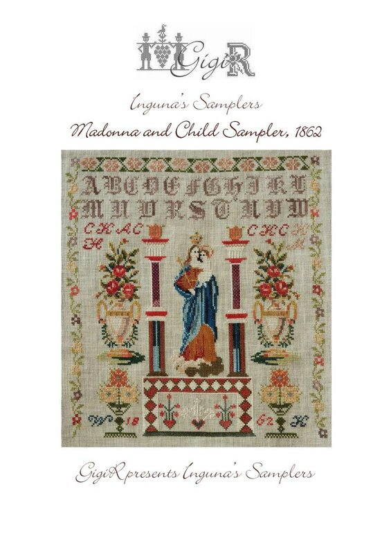 Madonna and Child Sampler GigiR presents cover_Page_1