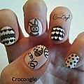 Nail art Pâques Crocongle