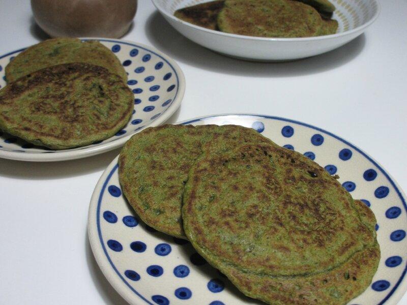 recette antigaspi pancake sarrasin fanes de radis Kmillesaveurs