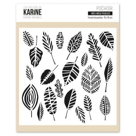 pochoir-meli-melo-feuilles-karine-cazenave-tapie