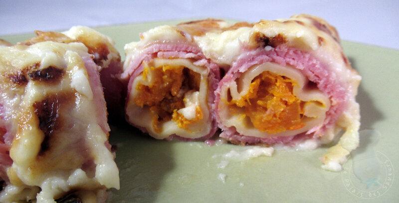 Cannelloni à la courge et au jambon