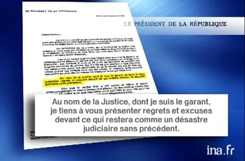 chirac lettre excuses