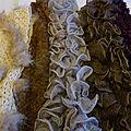 Echarpes au tricot