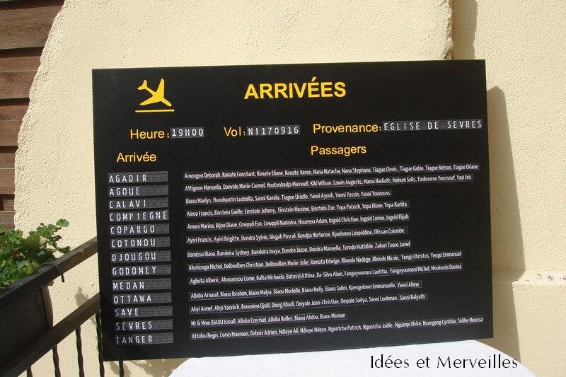 plan de table Voyage tableau affichage aéroport - Idees et Merveilles