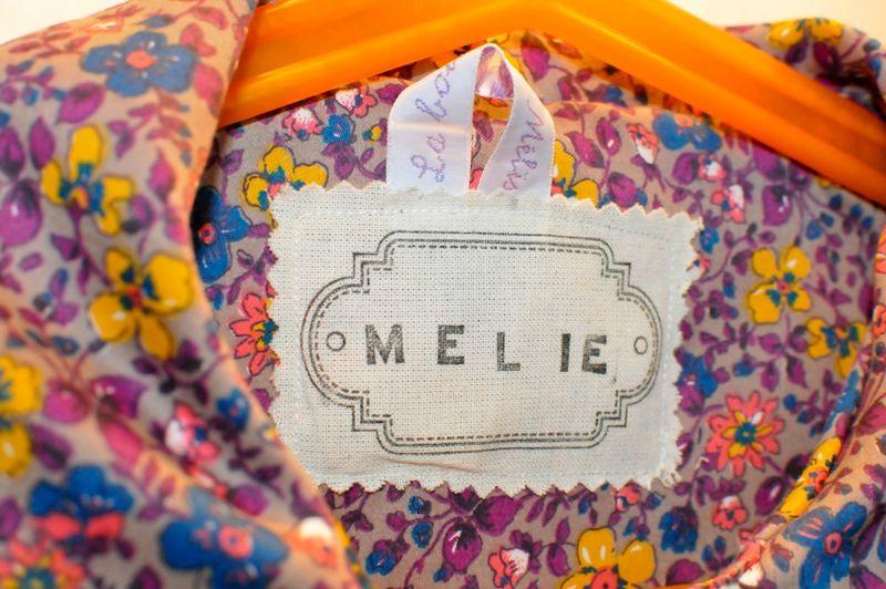 manteau ottobre Mélie zoom étiquette prénom