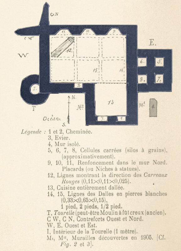 Fig 1 — Plan du CHATEAU DE BÉLÉBAT, à Saint-Vincent- sur-Jard