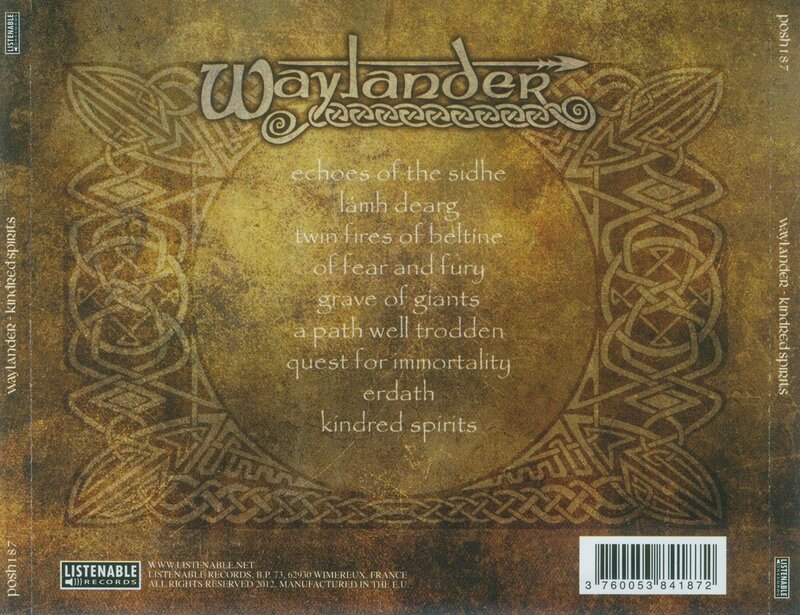 Waylander - 2012 - Kindred Spirits 9 Back