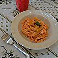 Linguini à la crème de poivron