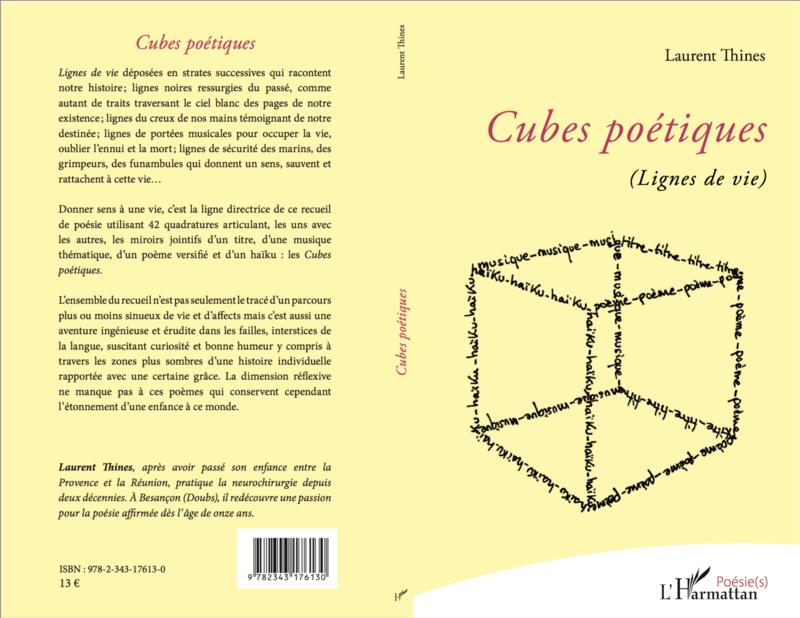 Cubes Poétiques (Lignes de vie) Editions L'harmattan (2019)