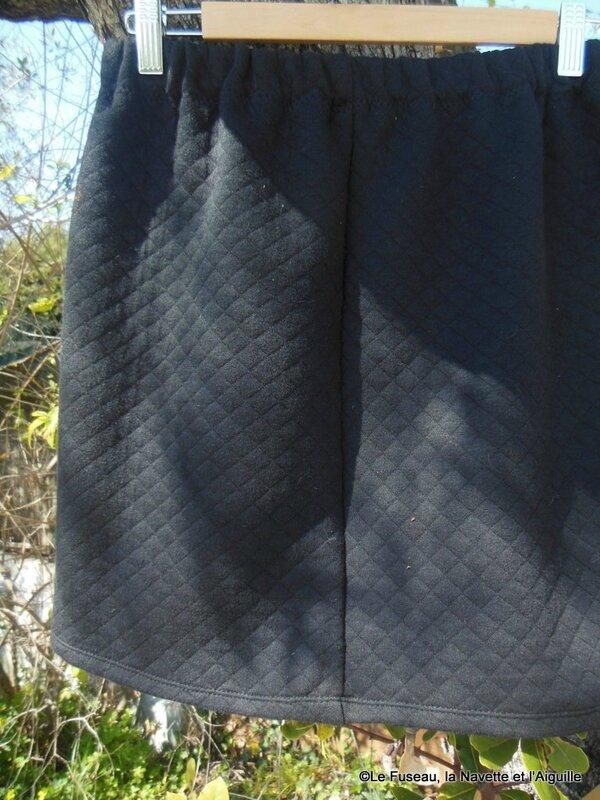 jupe molleton noir 9