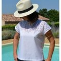 Tunique version Top à Broderies Anglaises