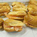Eclairs apéritifs au saumon et fromage frais