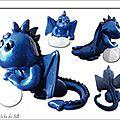 Dragon bleu nuit