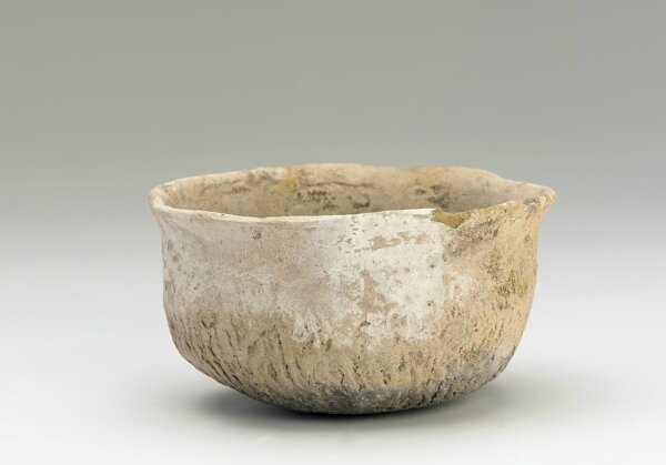 Vessel with round bottom and paddle-impressed design, Pre-Angkor period, 200-600, Southern Vietnam, Mekong River Delta