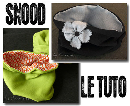 tuto pour snood adulte et enfant la couture by coconuts. Black Bedroom Furniture Sets. Home Design Ideas