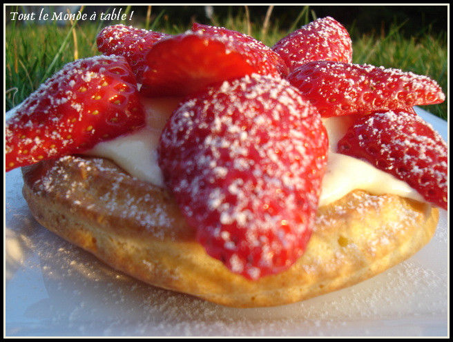 Tartelettes aux fraises façon saint Honoré