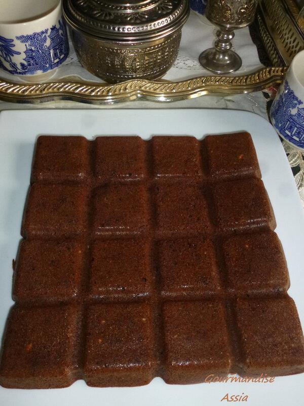 gâteau chocolat compote
