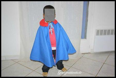 cape de chevalier rouge et bleue 3