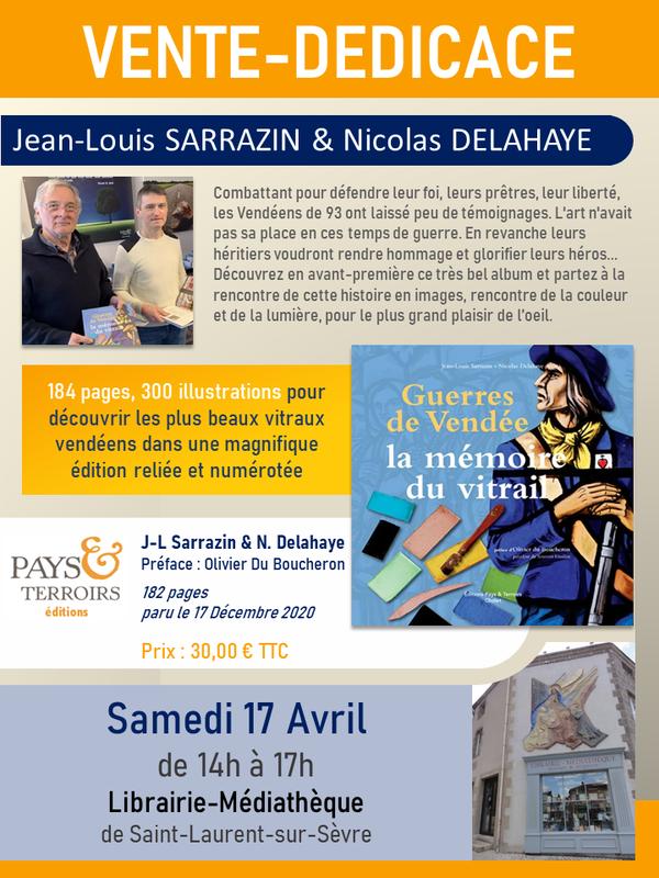 Affiche Vente-dédicaces JL SARRAZIN & Nicolas DELAHAYE