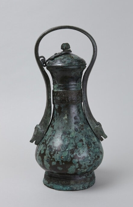 Lidded wine vessel (you), Shang dynasty, 13th century B